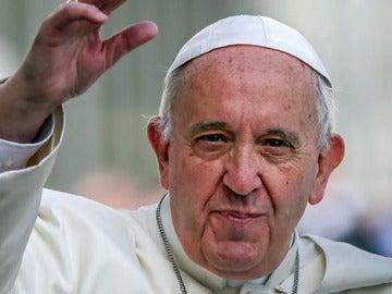 El papa Francisco durante una audiencia pública en la Plaza de San Pedro del Vaticano