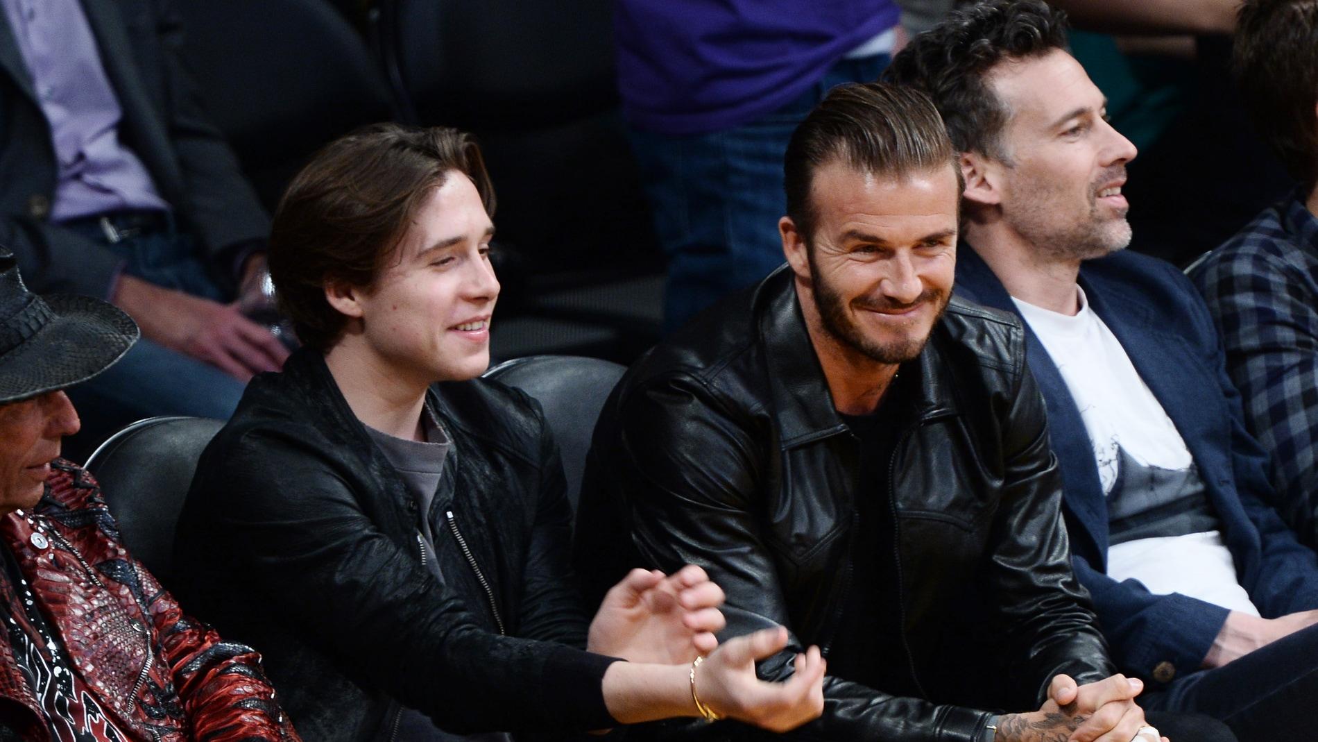David Beckham junto a su hijo Brooklyn