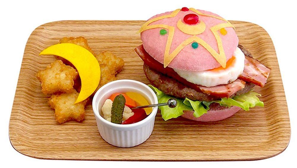 La hamburguesa rosa de 'Sailor Moon'.