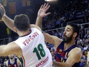 Navarro, en el vital triunfo del Barça