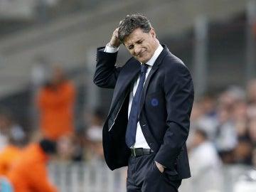 Michel, durante un partido con el Marsella