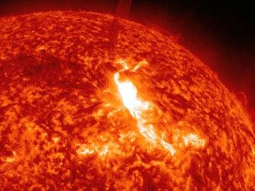 Imagen de una llamarada solar
