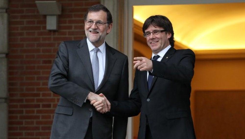 Rajoy con Puigdemont