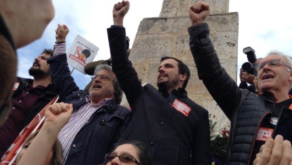 alberto Garzón, durante un acto de Izquierda Unida