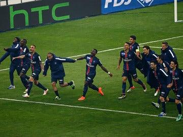 Los jugadores del PSG celebran el triunfo alcanzado