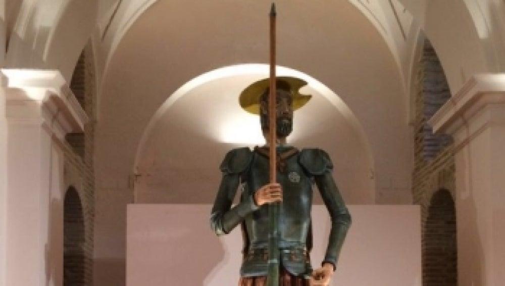 Una figura de exposición de Don Quijote