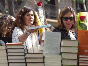 Barcelona en el día del libro