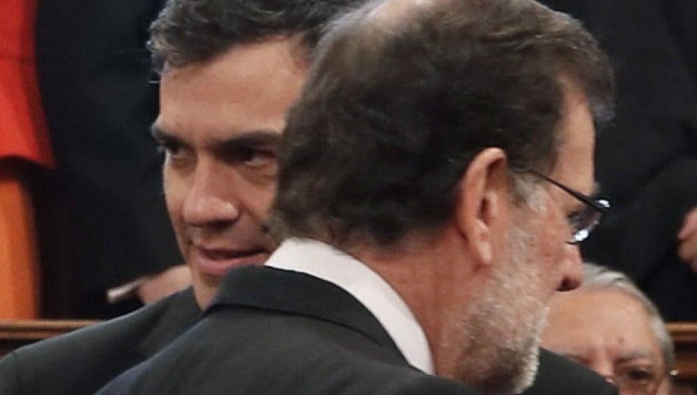 Sánchez y Rajoy en la entrega del Premio Cervantes