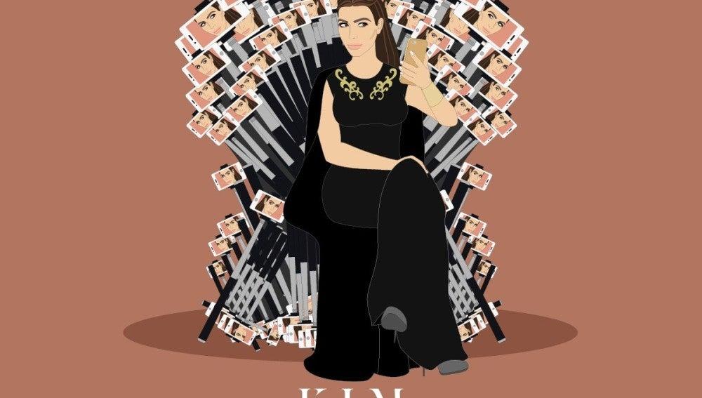 Kim Kardashian es 'Kim Khaldashian, Reina de los Selfies'