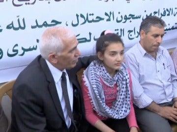 La niña de 12 años liberada por Israel