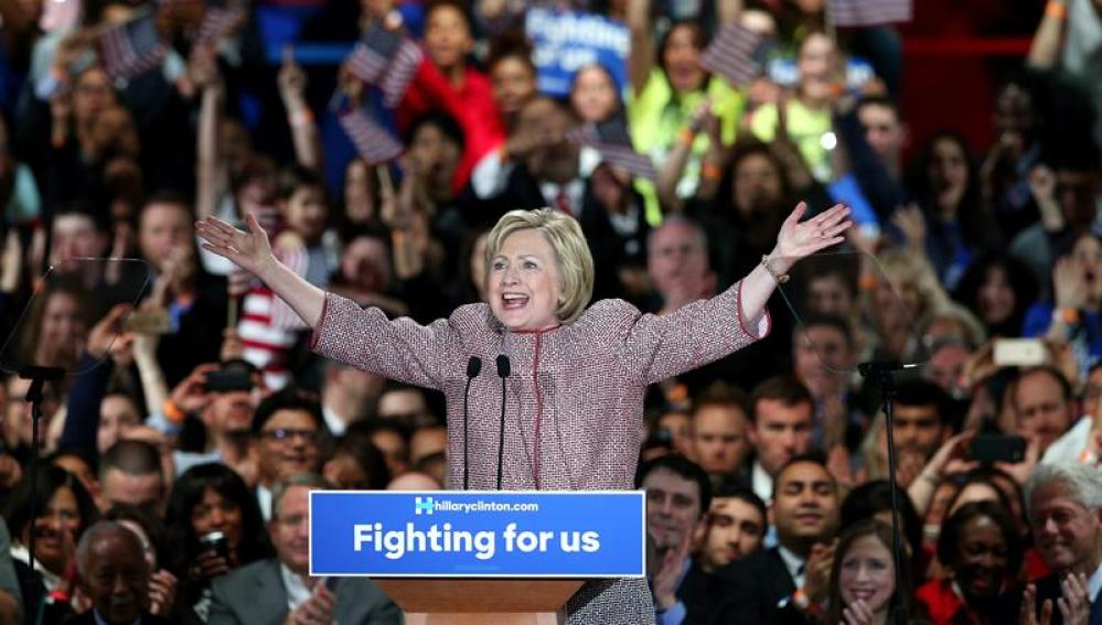 Hillary Clinton, candidata demócrata a la Casa Blanca