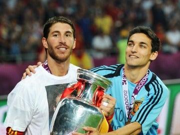 Jesús Navas y Sergio Ramos