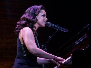 Alicia Keys durante un concierto