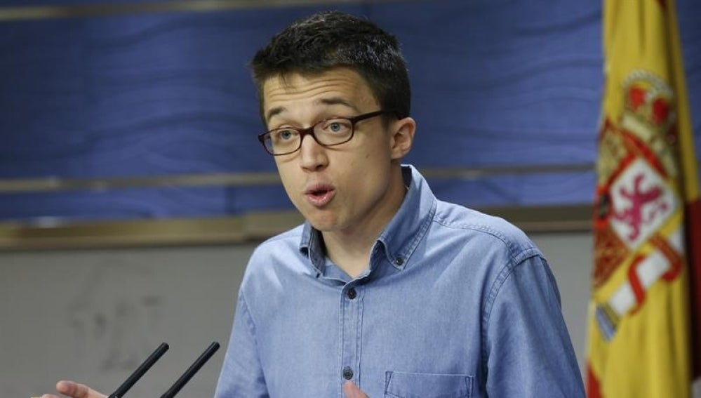 El portavoz de Podemos, Iñigo Errejón