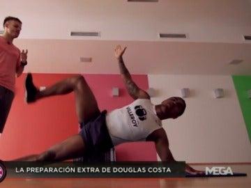 La preparación extra de Douglas Costa