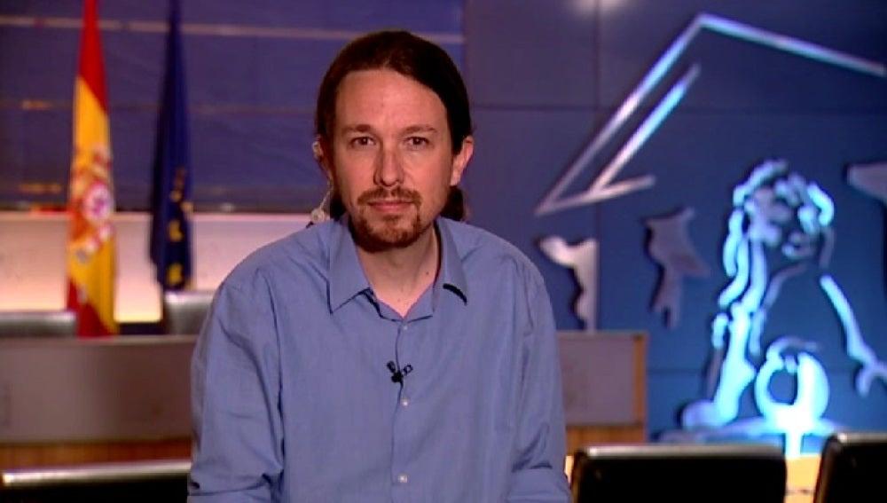 Pablo Iglesias, entrevistado en Noticias 2