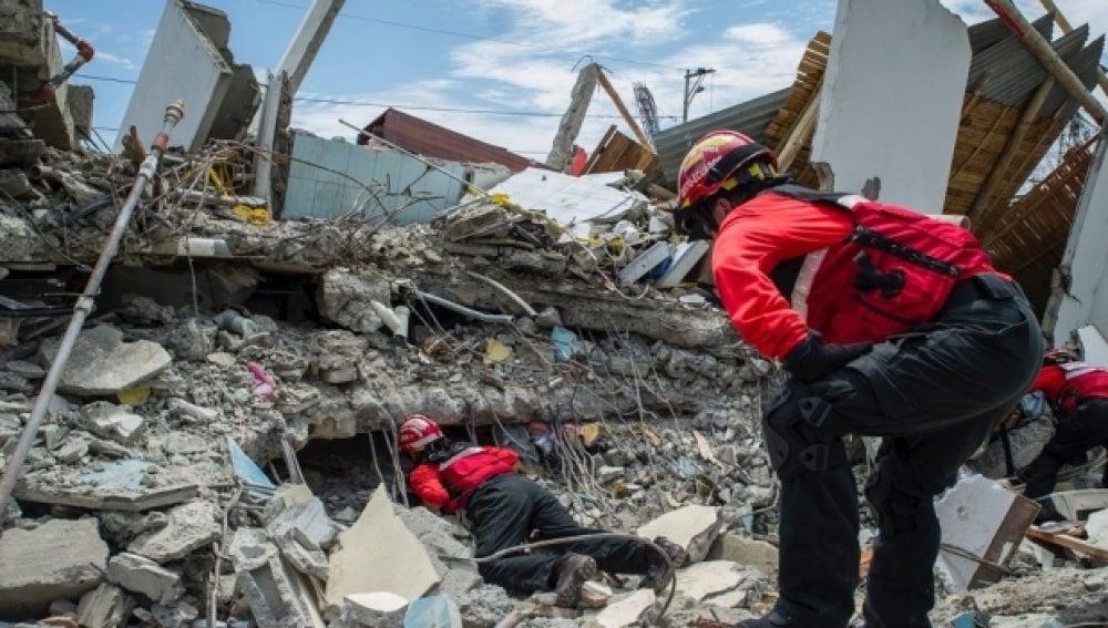 Equipos de rescate busca supervivientes en Ecuador