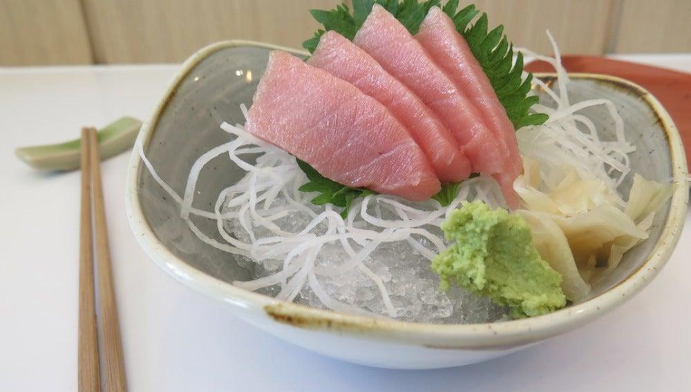 Con un sashimi como éste, ¿quién se resiste?