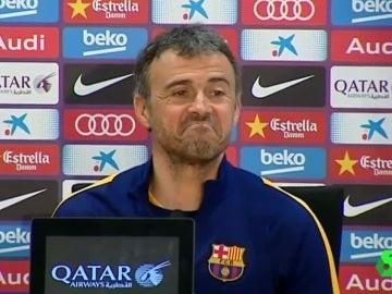 Luis Enrique, durante la rueda de prensa