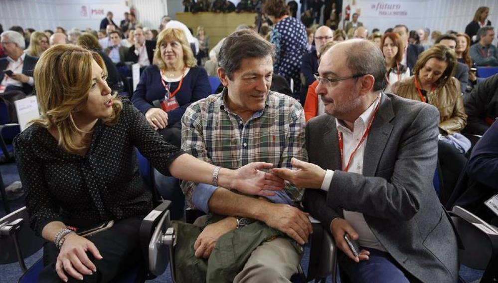 Susana Díaz, Javier Lambán y Javier Fernández