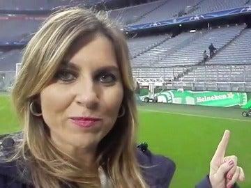Susana Guasch en el Allianz Arena