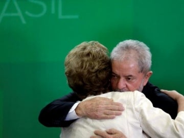 Lula Da Silva junto a Dilma Roussef
