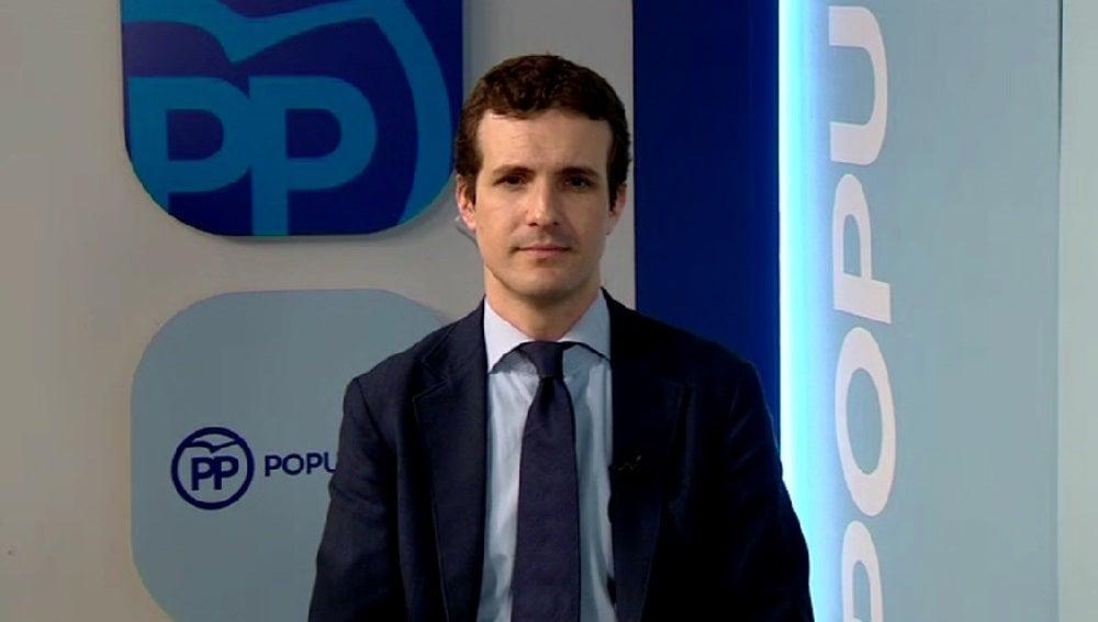 Pablo Casado, durante una entrevista en Espejo Público
