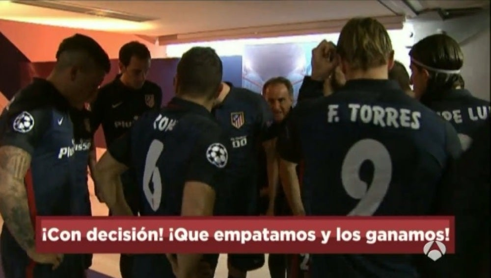 El 'Profe' Ortega animó a los jugadores