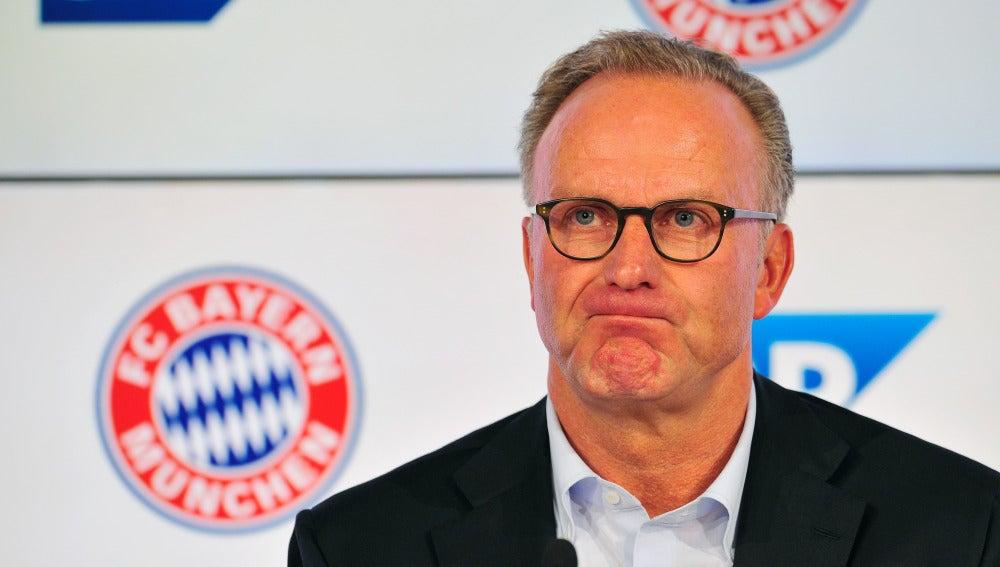 Rummenigge durante un acto con el Bayern de Múnich