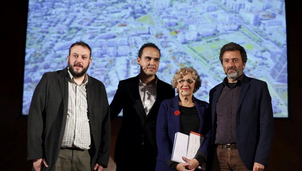 Manuela Carmena, durante la presentación del proyecto 'Madrid Puerta Norte'