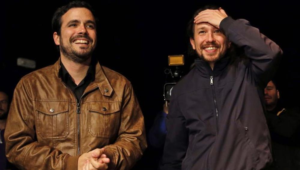 Pablo Iglesias y Alberto Garzon
