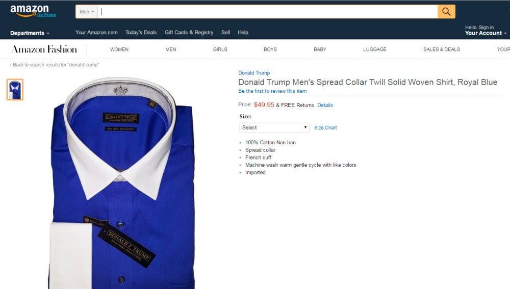 Camisa de la marca de Trump que se vende en Amazon