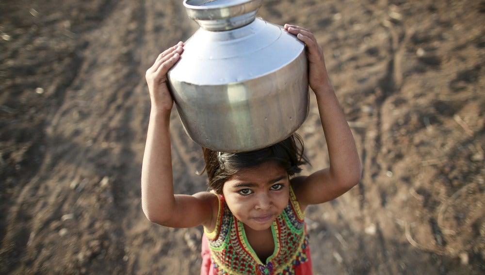 Una niña india