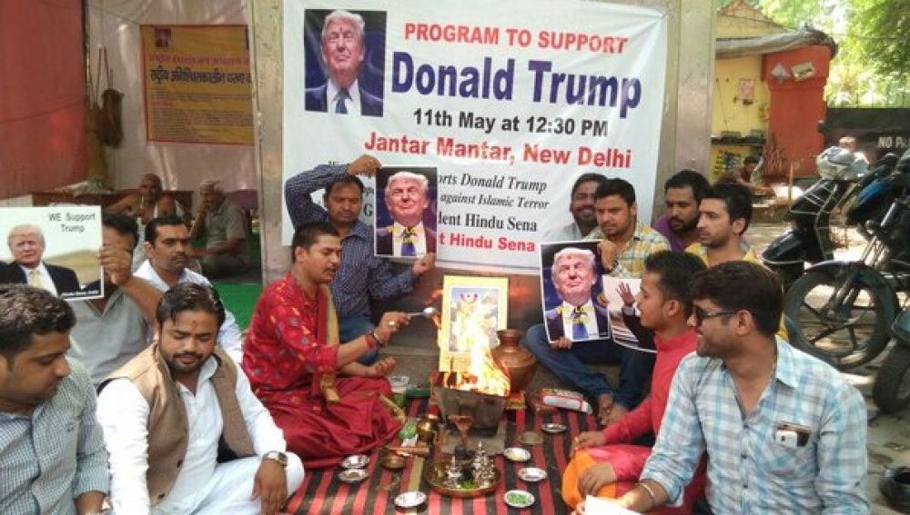 Oraciones de la ultraderecha india para ayudar a Trump