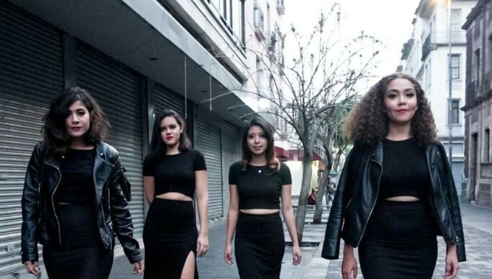 Las cuatro jóvenes del proyecto 'Morras'