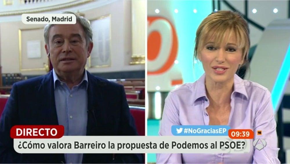 """Frame 24.336432 de: Barreiro (PP): """"Podemos se ha comido a IU y, en el segunto plato, trata de comerse al PSOE"""""""