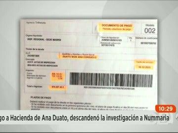 Frame 1.368271 de: Ana Duato pagó en febrero casi un millón de euros a Hacienda