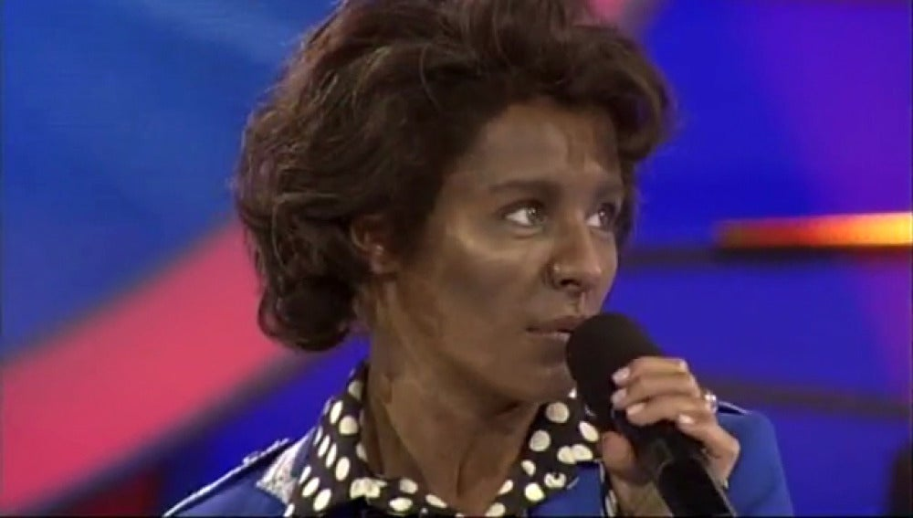 Soraya Arnelas imita a James Brown en 'Tu cara me suena'