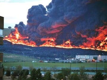 Imagen del incendio en Seseña