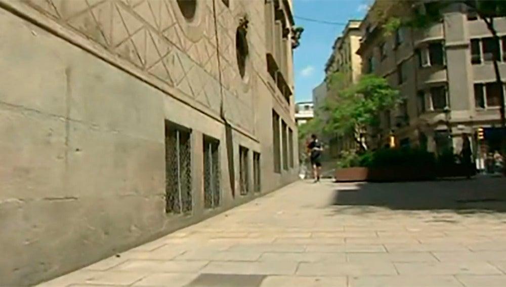Calle del colegio de donde se han fugado