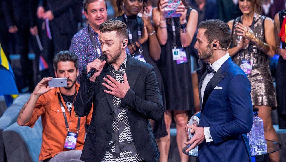 Barei la mayor fan de Justin Timberlake en Eurovisión