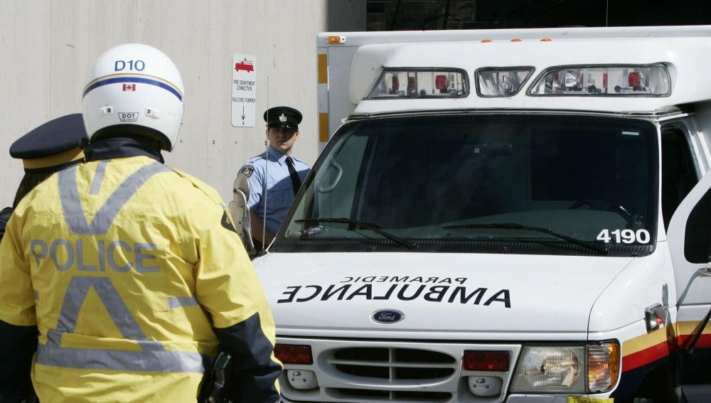 Una ambulancia de Canadá