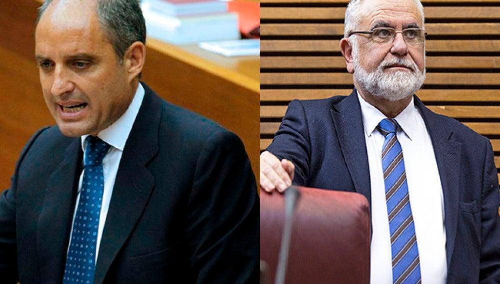 El expresidente de la Generalitat Valenciana, Francisco Camps y el exconseller y expresidente de las Corts Juan Cotino.