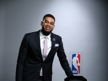 Karl-Anthony Towns, elegido 'Rookie del año' en la NBA