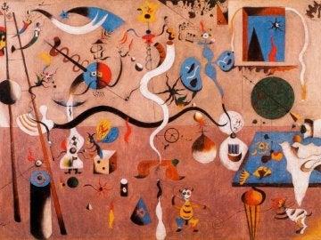 Óleo de Miró: 'El carnaval del arlequín'