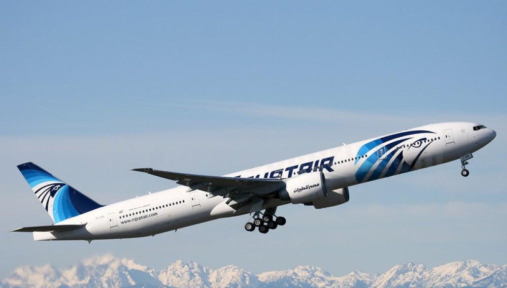 Avión de la compañía Egyptair.