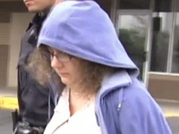 La profesora tras su detención