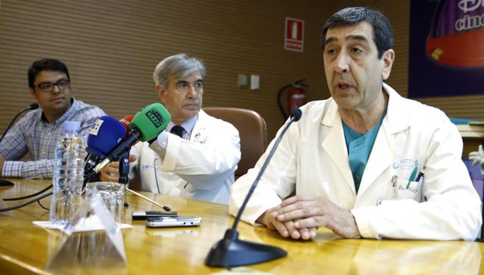 El equipo médico encargado de la intervención de Wissam, informa sobre su estado en el 12 de octubre.