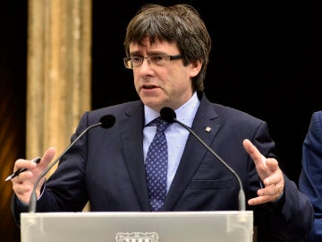 El presidente de la Generalitat de Catalunya, Carles Puigdemont