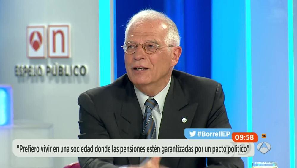 Entrevista a Josep Borrell en Espejo Público.